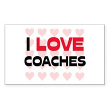 I LOVE COACHES Rectangle Decal