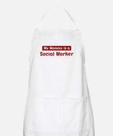Mom is a Social Worker BBQ Apron