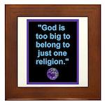 Big God I Framed Tile