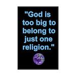 Big God I Mini Poster Print