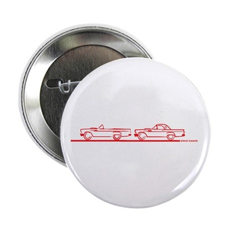 """Two 57 T Birds Red 2.25"""" Button (10 pack)"""