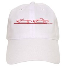 Two 57 T Birds Red Baseball Cap