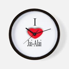 Jai-Alai Wall Clock