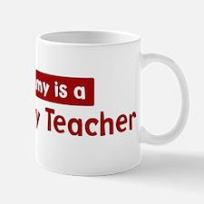 Mom is a Geography Teacher Mug