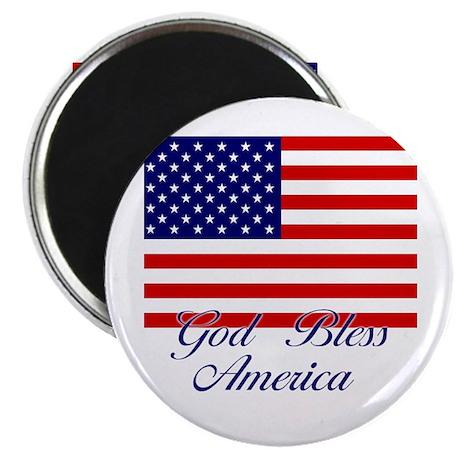 """American Flag - God Bless America 2.25"""" Magnet (10"""