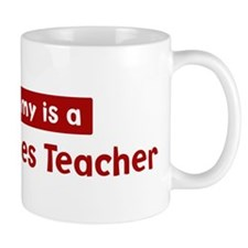 Mom is a Peace Studies Teache Mug
