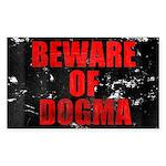 Beware of Dogma Rectangle Sticker