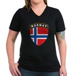 Norway Women's V-Neck Dark T-Shirt