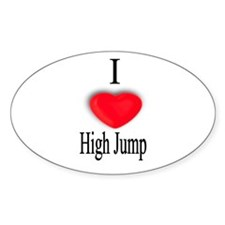 High Jump Oval Decal
