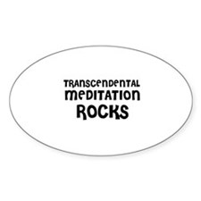 TRANSCENDENTAL MEDITATION RO Oval Decal