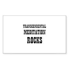 TRANSCENDENTAL MEDITATION RO Sticker (Rectangular