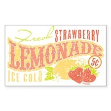 Strawberry Lemonade Rectangle Decal