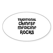 TRADITIONAL CHINESE MEDICINE Oval Decal