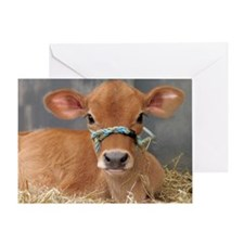 Cute Jersey Calf Greeting Card