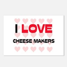 I LOVE CHEESE MAKERS Postcards (Package of 8)