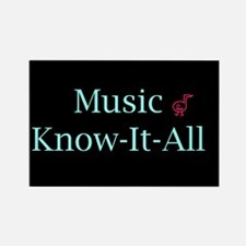 Music Know-It-All Rectangle Magnet
