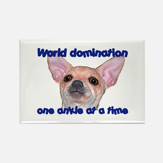 Chihuahua world Rectangle Magnet