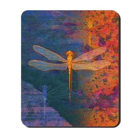 Flaming Dragonfly Mousepad