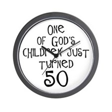 50th birthday gifts Christian Wall Clock