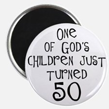 50th birthday gifts Christian Magnet