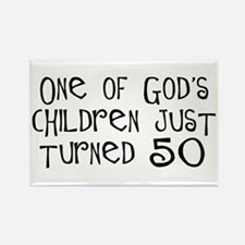 50th birthday gifts Christian Rectangle Magnet