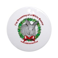 Dreaming of a White Bunny Ornament (Round)