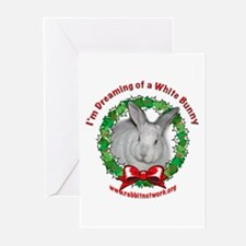 Dreaming of a White Bunny Greeting Cards (Package