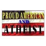 Proud American Rectangle Sticker