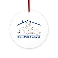 House Rabbit Network Logo Ornament (Round)