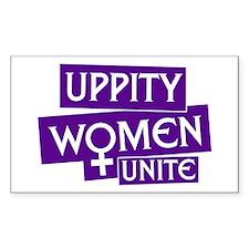 UPPITY WOMEN UNITE Rectangle Decal