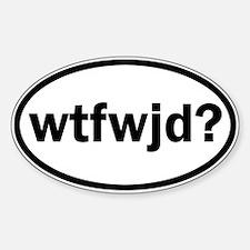 wtfwjd oval sticker