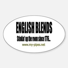 English Blends Oval Decal