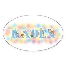 """Kaden"" with Mice Oval Decal"