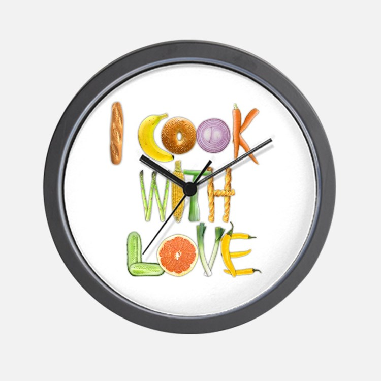 I Cook With Love small wall clock