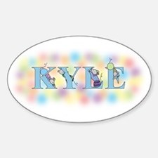 """""""Kyle"""" with Mice Oval Decal"""