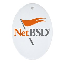 NetBSD Devotionalia Oval Ornament