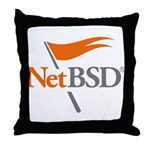 NetBSD Devotionalia Throw Pillow