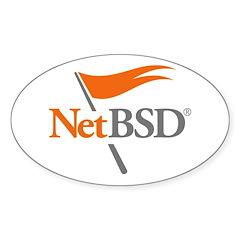NetBSD Devotionalia Oval Decal