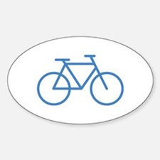 bike icon Oval Decal