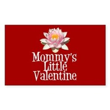 Mommy's Little Valentine Rectangle Decal