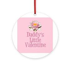 Daddy's Little Valentine Ornament (Round)