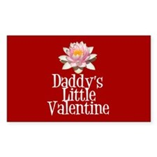 Daddy's Little Valentine Rectangle Decal