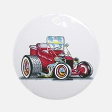 Little red T Bucket Ornament (Round)
