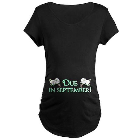 Due in September Maternity Dark T-Shirt