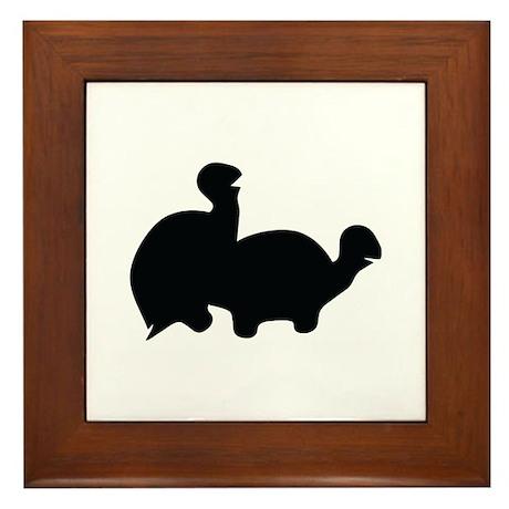 turtle sex icon Framed Tile