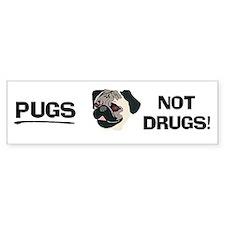 Pugs Not Drugs Bumper Bumper Sticker