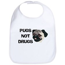 Pugs Not Drugs Bib