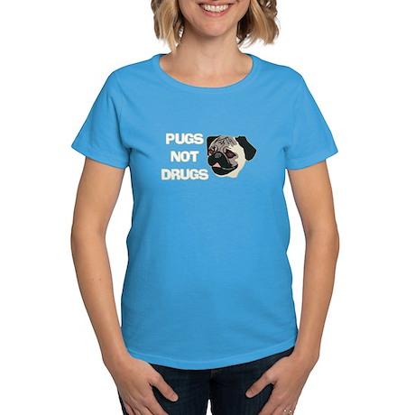 Pugs Not Drugs Women's Dark T-Shirt