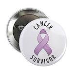 """Cancer Survivor 2.25"""" Button (10 pack)"""