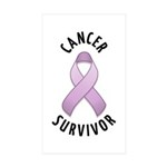 Cancer Survivor Rectangle Sticker 10 pk)